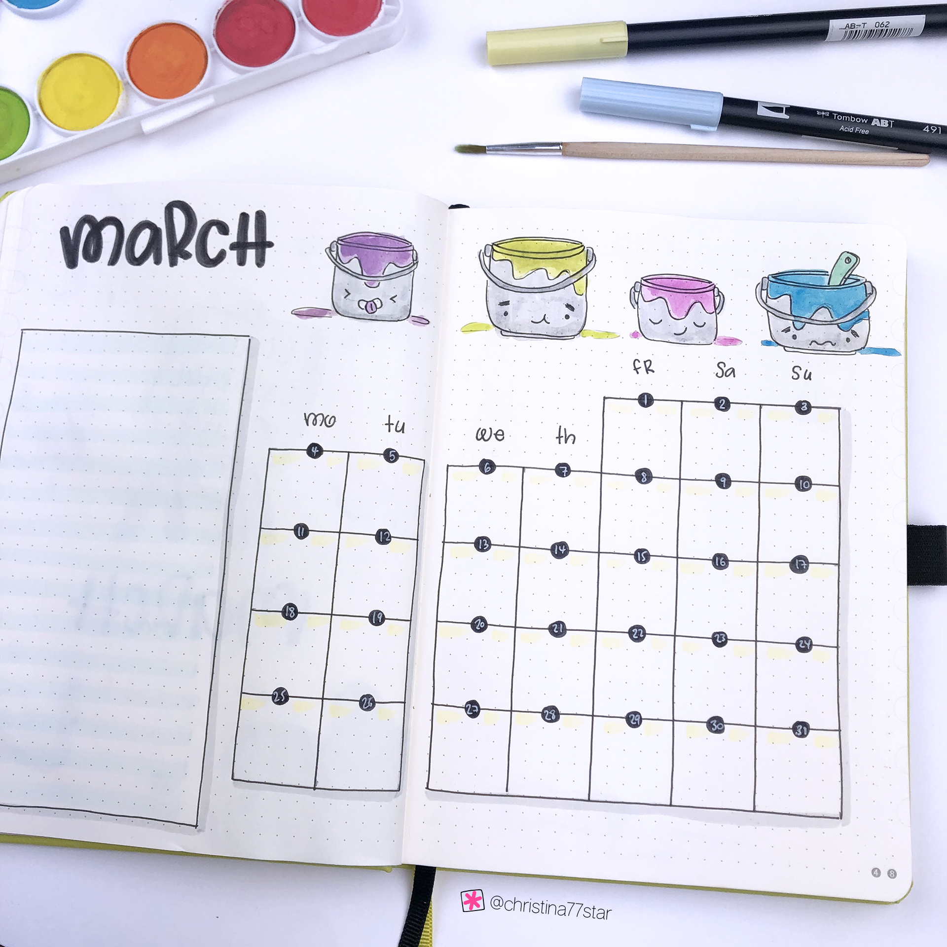 March 2019 - Plan With Me - Bullet Journal Setup