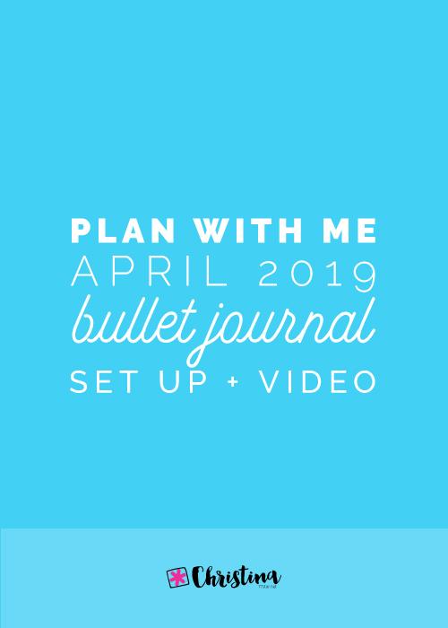 Plan With Me - April 2019 - Bullet Journal setup