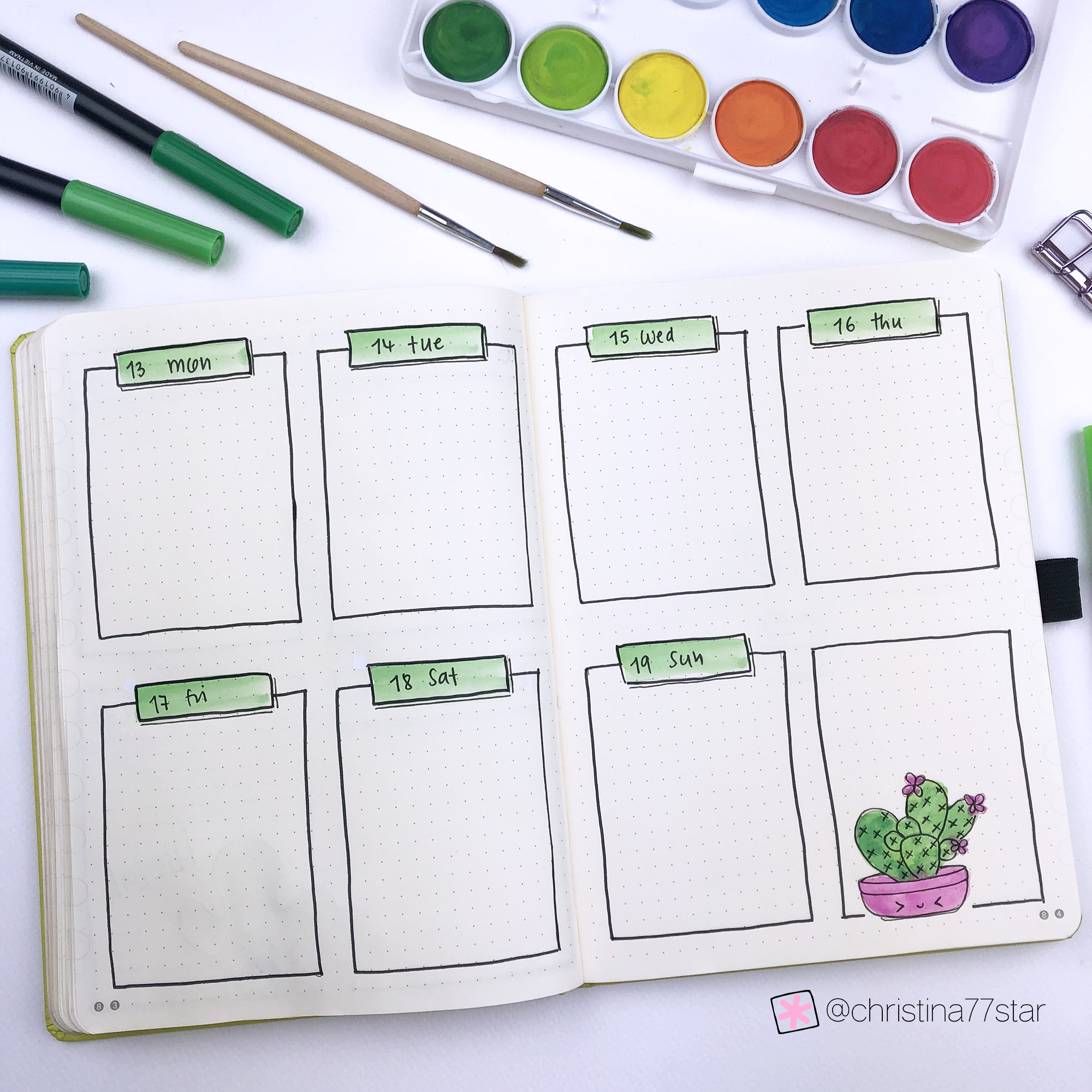 4 Weekly Spread Ideas for your Bullet Journal - May 2019 - www.christina77star.net