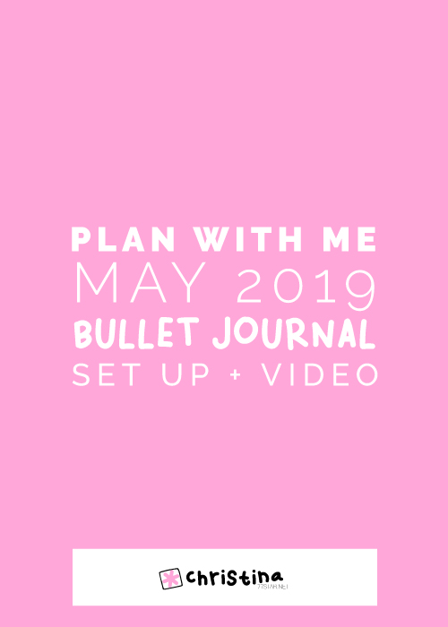 Plan With Me - My May 2019 Bullet Journal setup