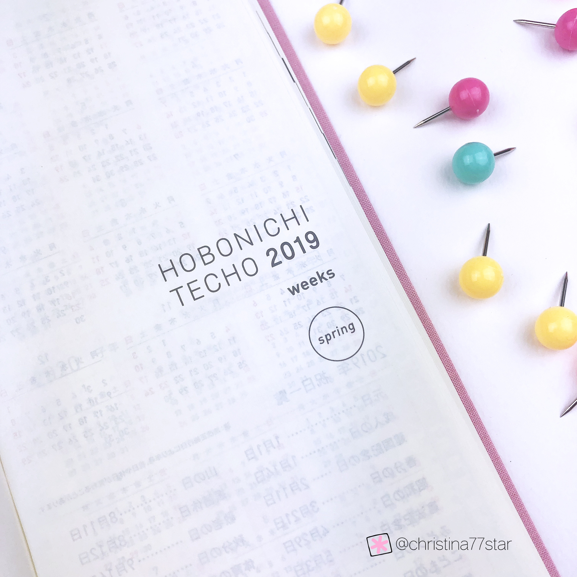 Hobonichi Techo Weeks 2019 Review - www.christina77star.net