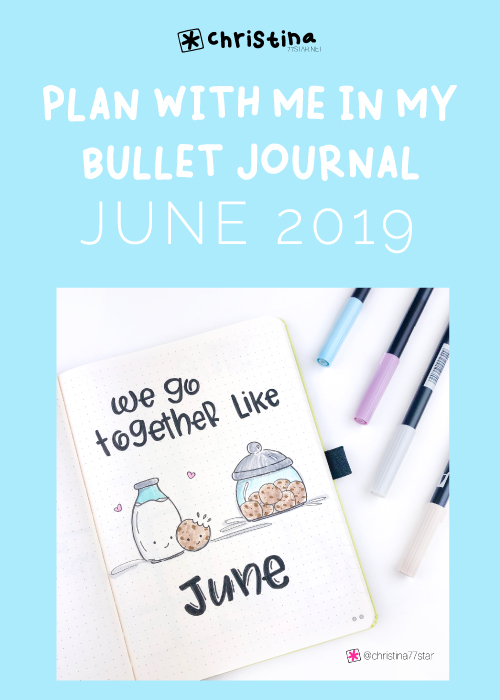 Bullet Journal Monthly Layout for June 2019 - Cover Page - Bullet Journal Setup
