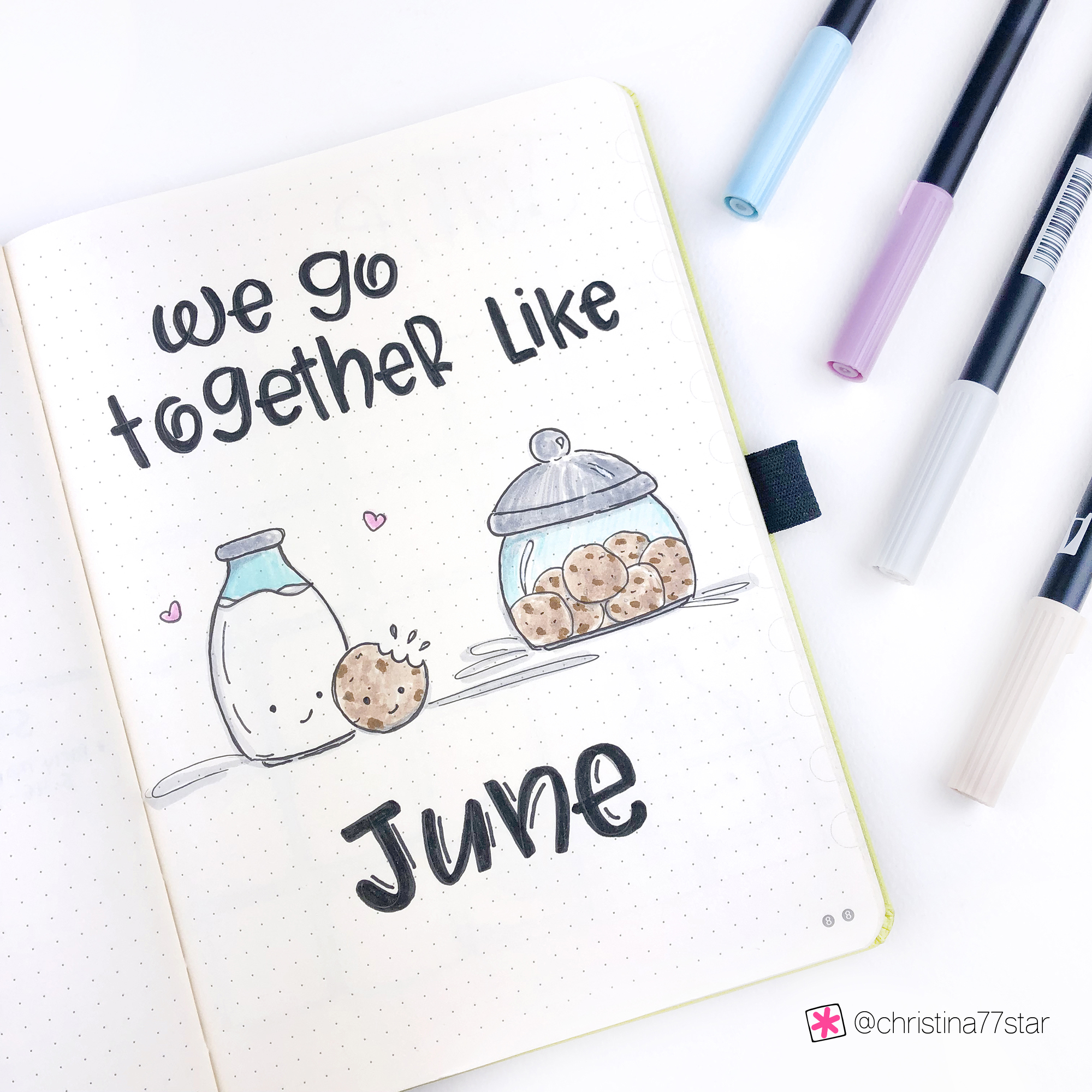 Bullet Journal Monthly Layout for June 2019 - Cover Page