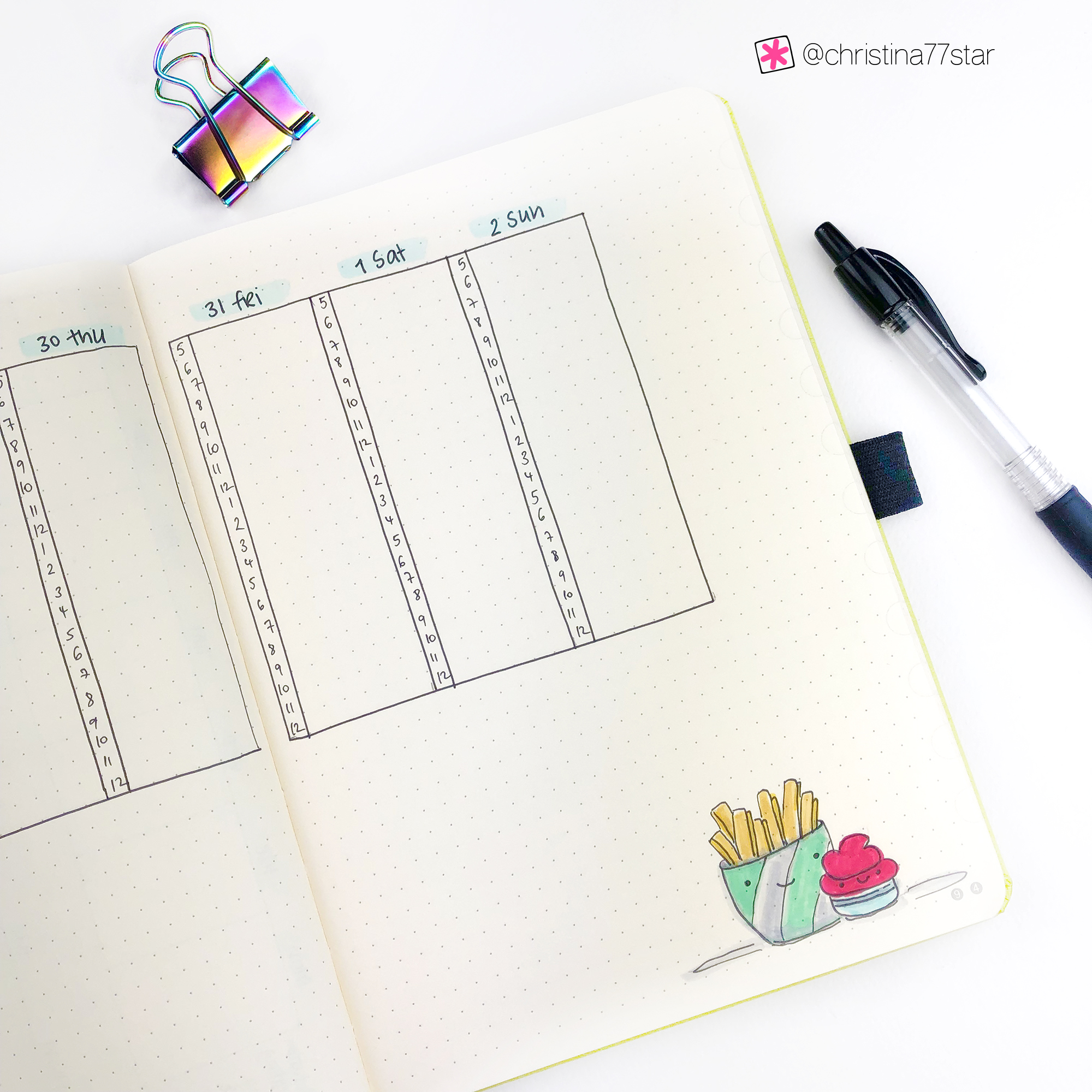 Plan With Me - Bullet Journal Monthly Setup for June 2019 - Weekly Spread