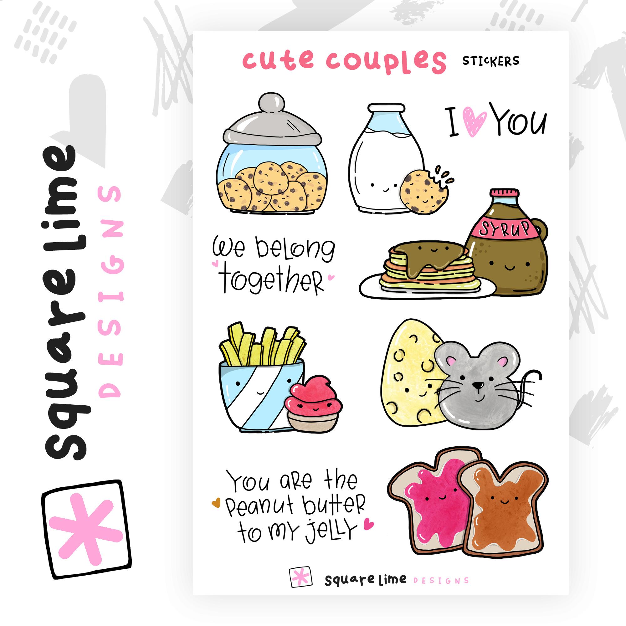 Cute Couples Stickers - June 2019 bullet journal setup - christina77star.net
