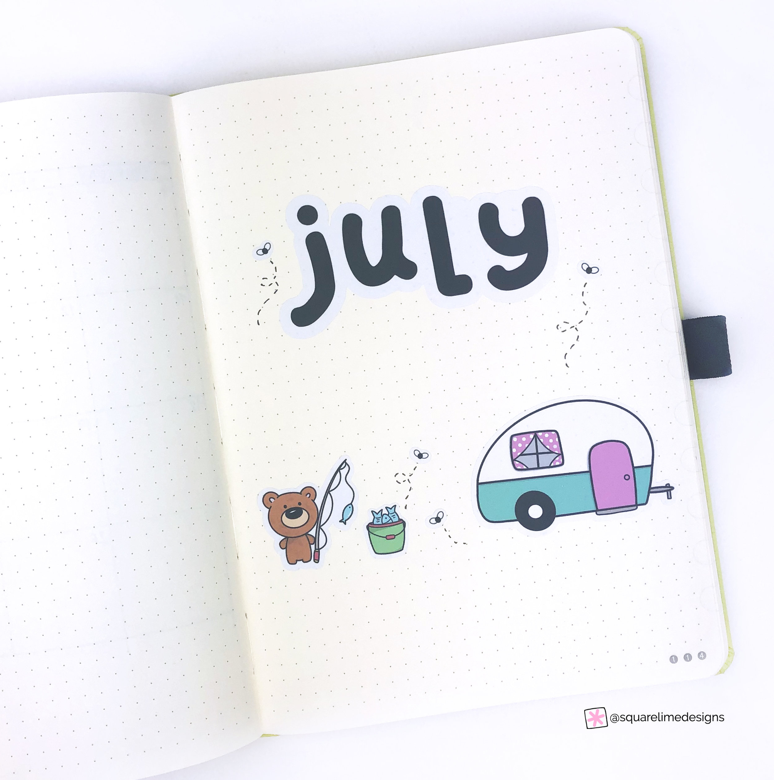 Bullet Journal Monthly Layout for July 2019 - Cover Page
