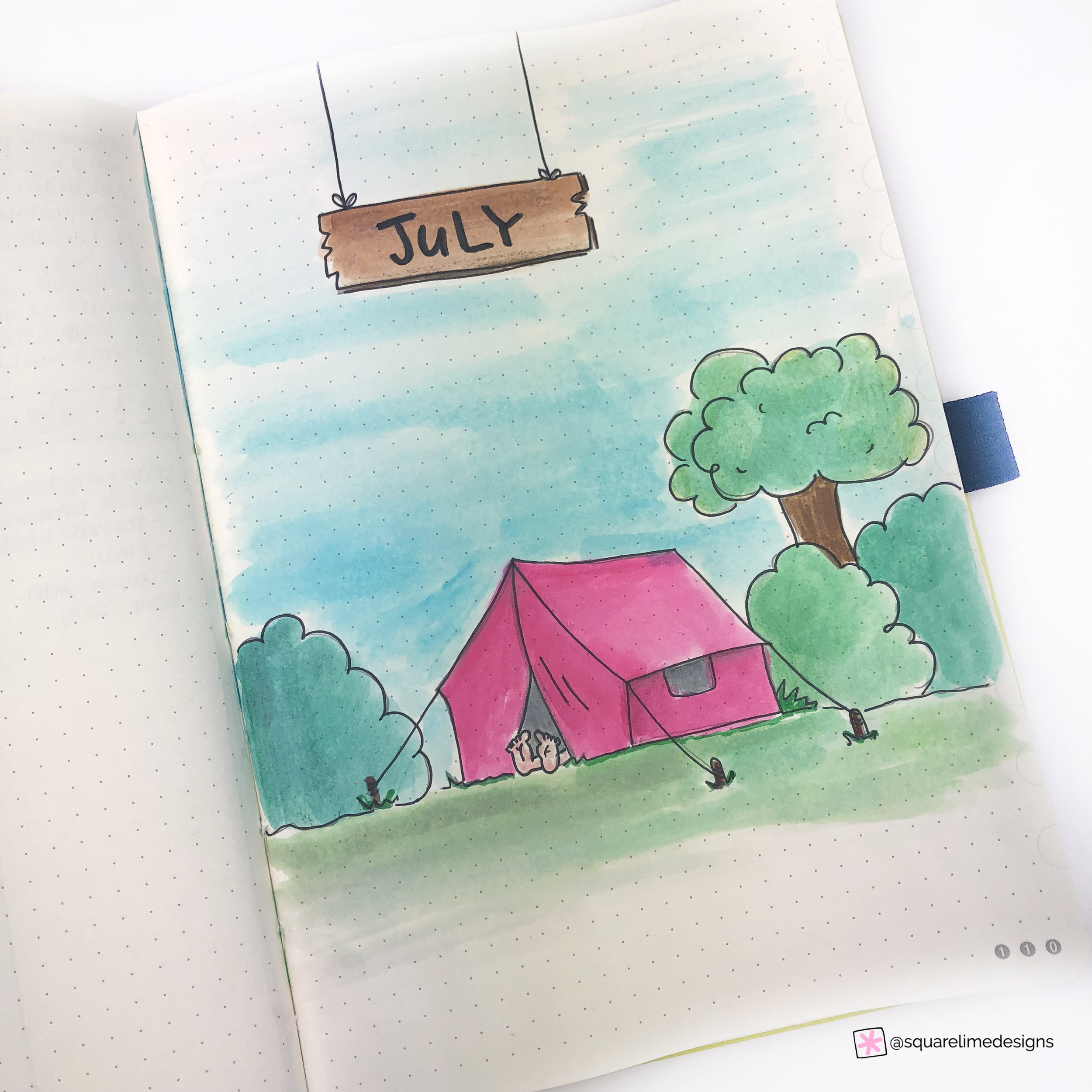 Front Page - Camping Theme - Bullet Journal Plan with Me