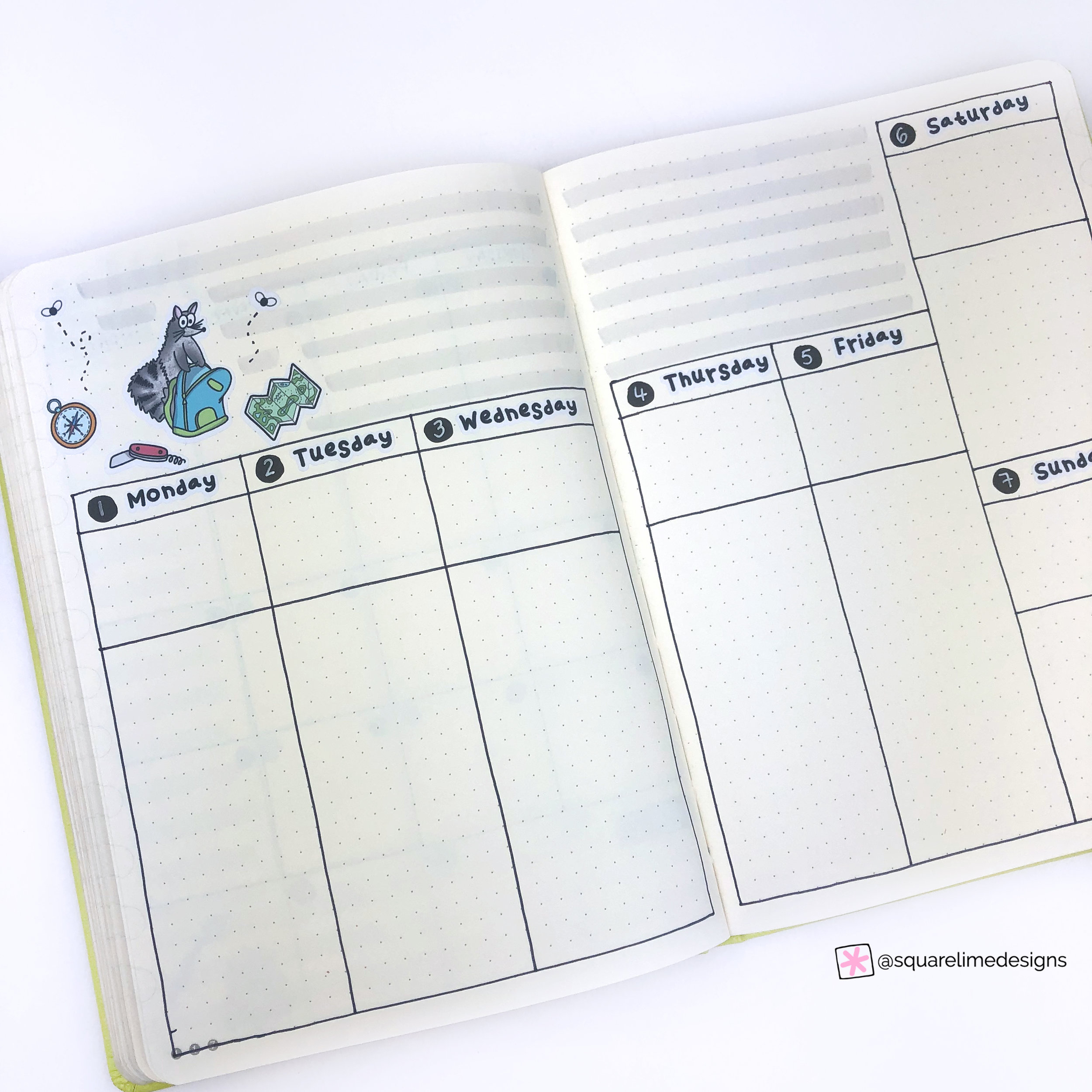 Plan With Me - Bullet Journal Monthly Setup for July 2019 - Weekly Spread