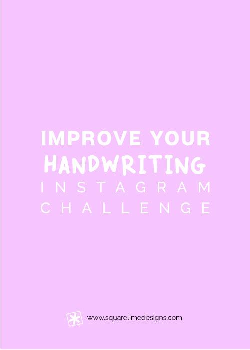 Improve Your Handwriting Challenge - June 2019