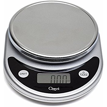 Ozeri Kitchen Food Scale - This handy kitchen tool has been incredibly useful, both in measuring the protein in meat and finding carbohydrates in our starchy VEGETABLES. it also offers a wide variety of measurements such as mililiter, oz, lbs, and grams.