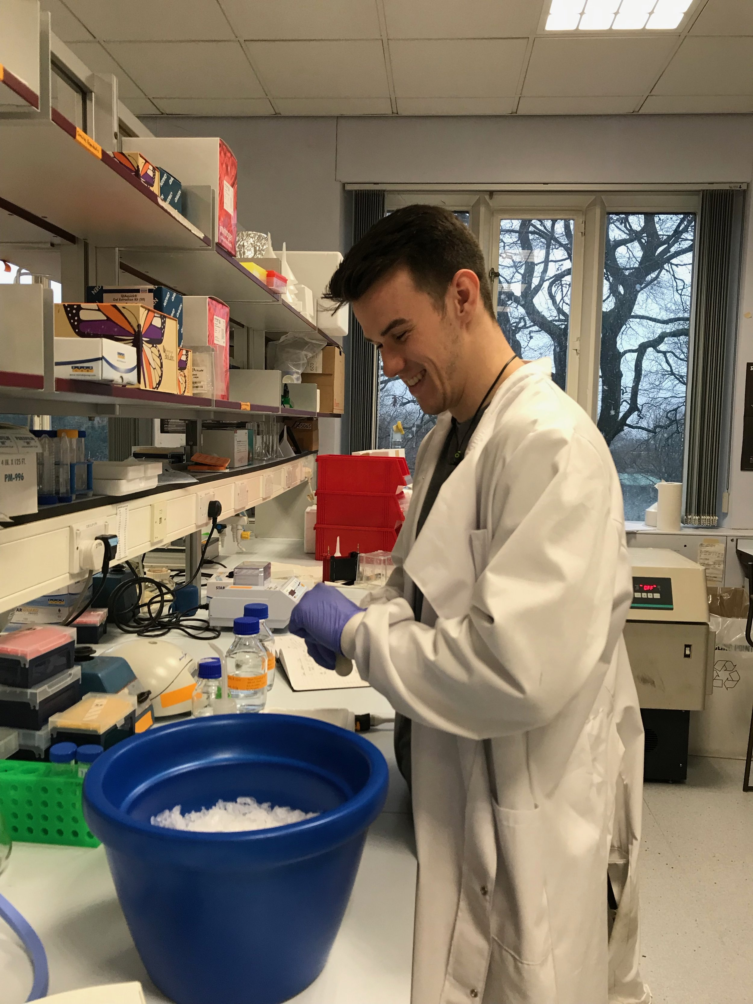 Christopher Callaghan - Chris is a 4th year MBiolSci student. He is working with us for the duration of his final year lab project, developing methods for probing RNA structure with single molecule FRET as part of our collaboration with Tim Craggs.