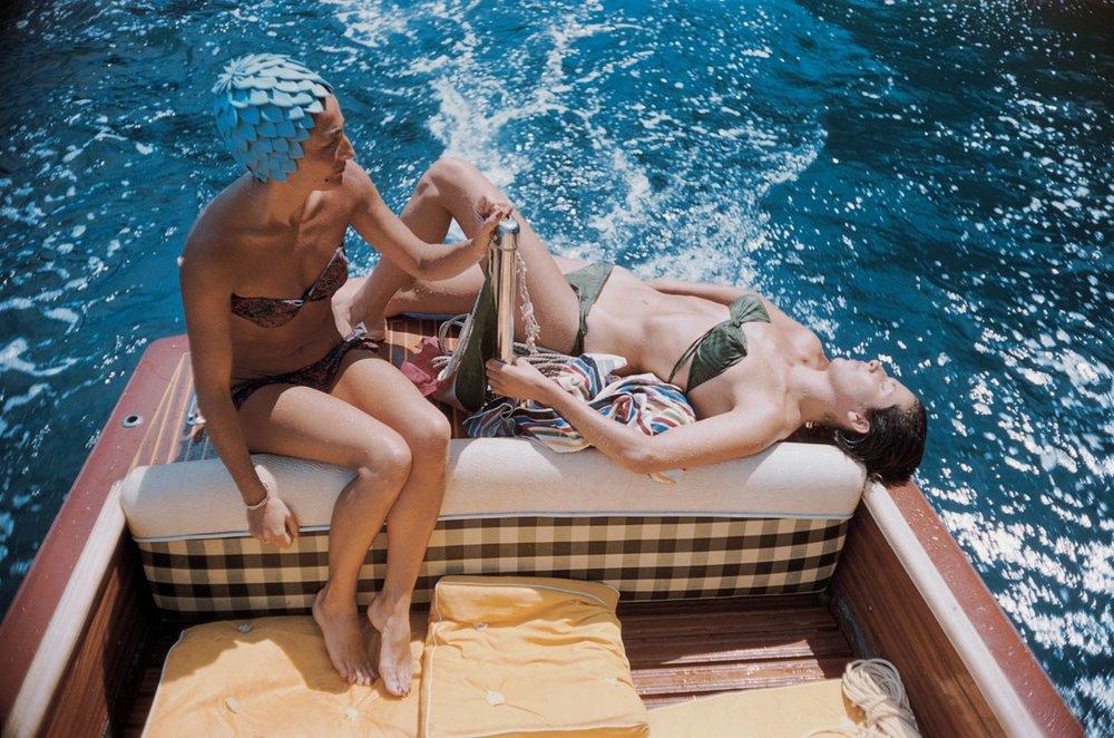 Slim Aarons 'Vuccino And Rava', Capri, 1958