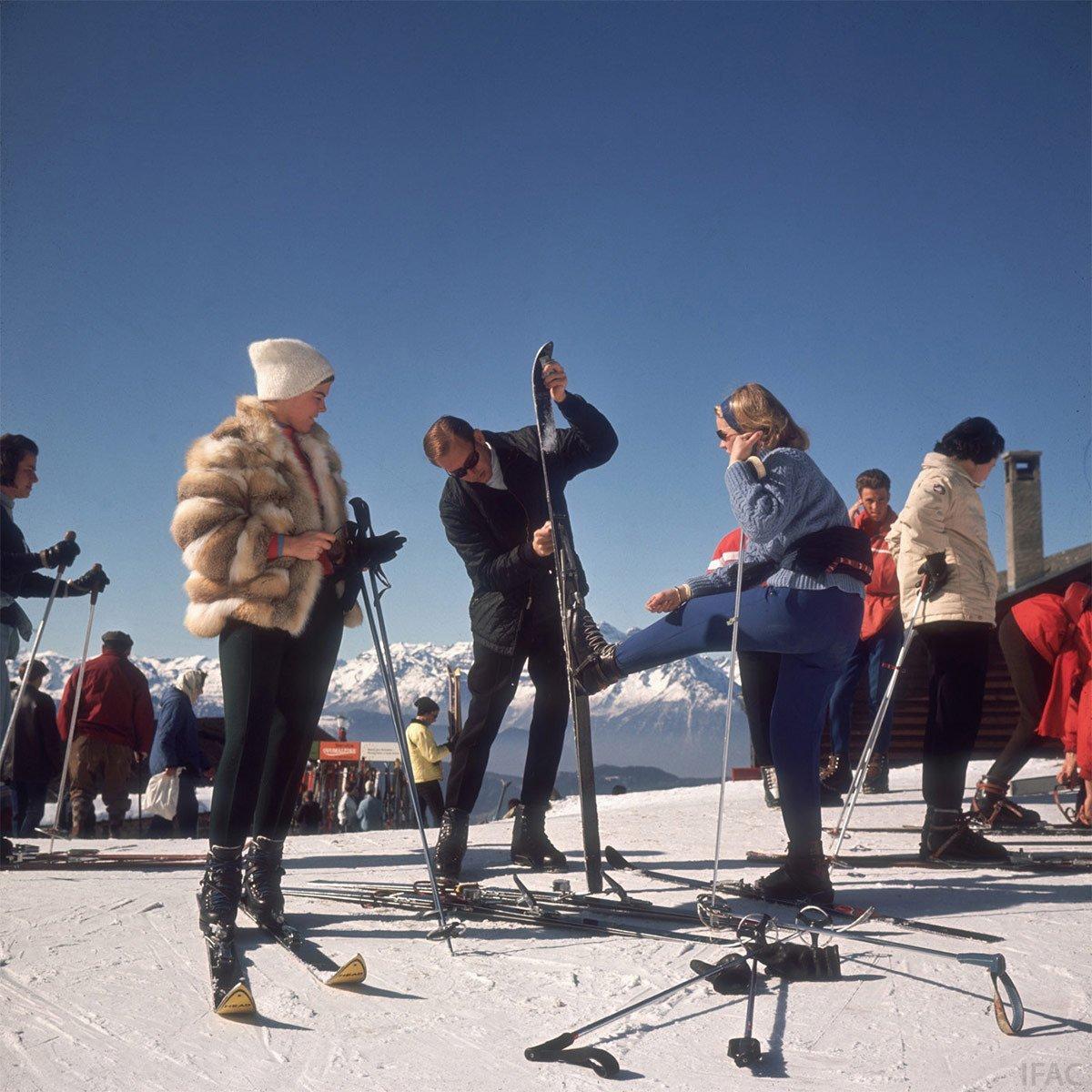 Photo Slim Aarons, Verbier, 1964.
