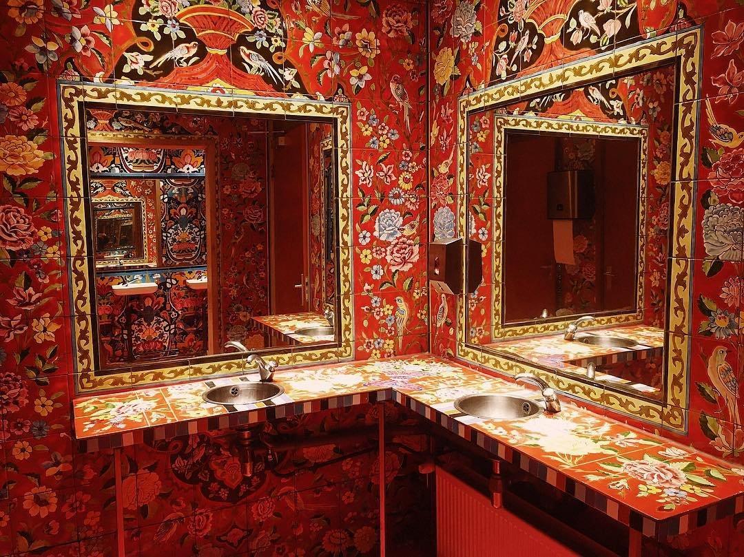 The epic bathroom inside Bazaar. Captured by @ rosasuiker