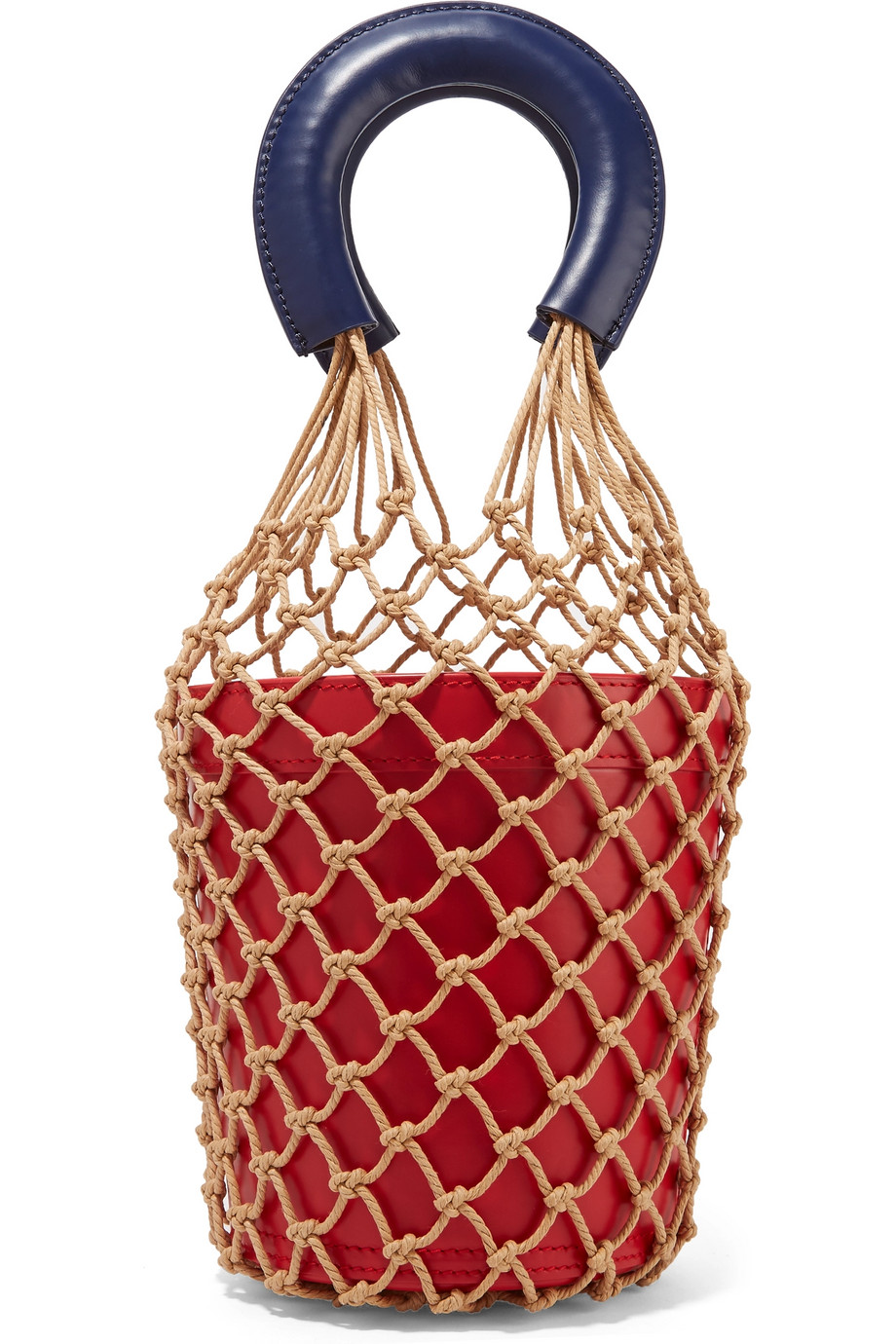If you like the net look but are in need of a sturdier option,  Staud's  bucket meets net bag is the ticket.