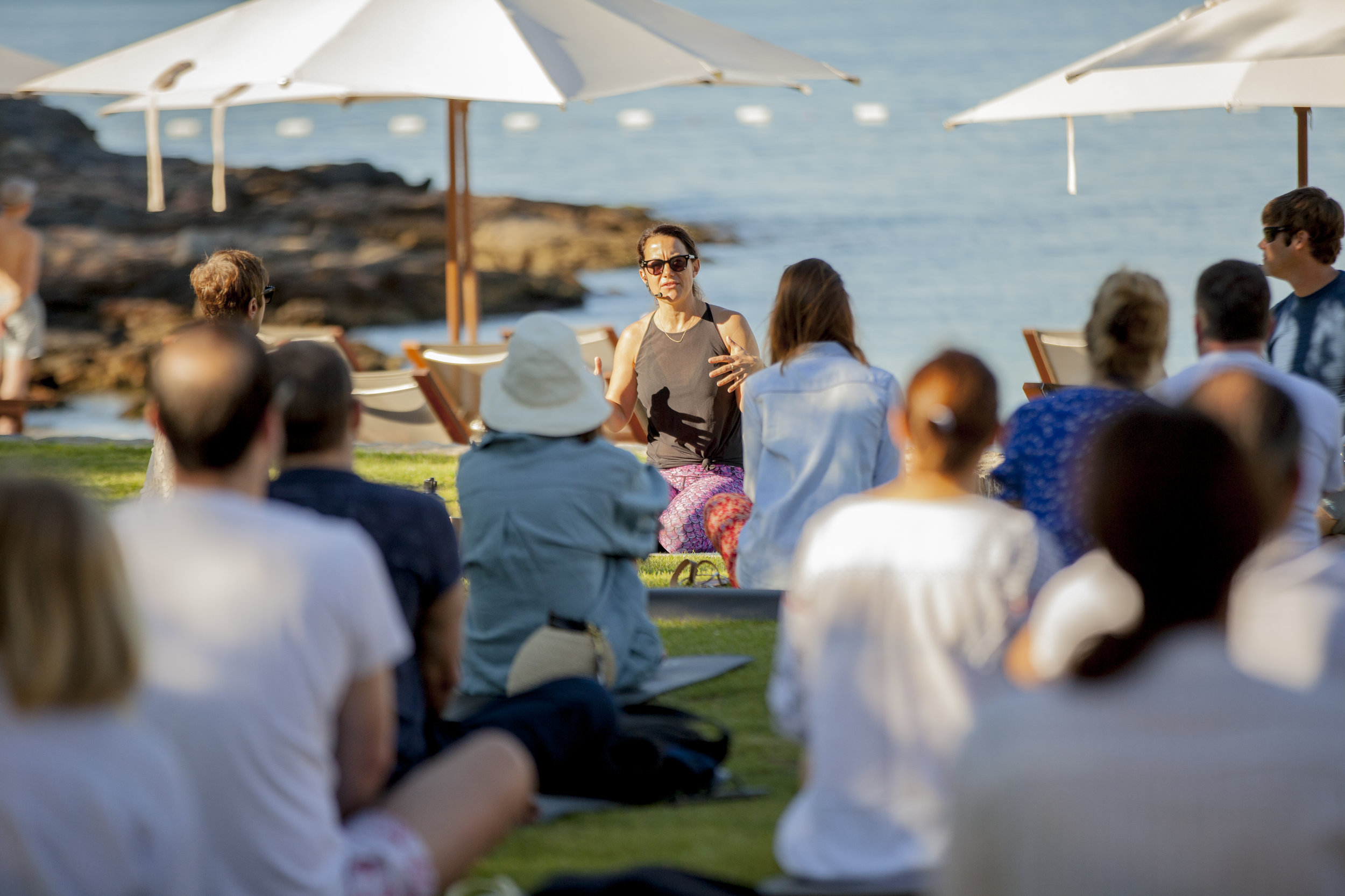 Alongside talks, Harvest Nature featured workshops that covered everything from Voga to make-your-own body scrub, sun-gazing with a special telescope and freediving breathwork lessons lead by filmmaker and world record holding freediver, Hanli Prinsloo.