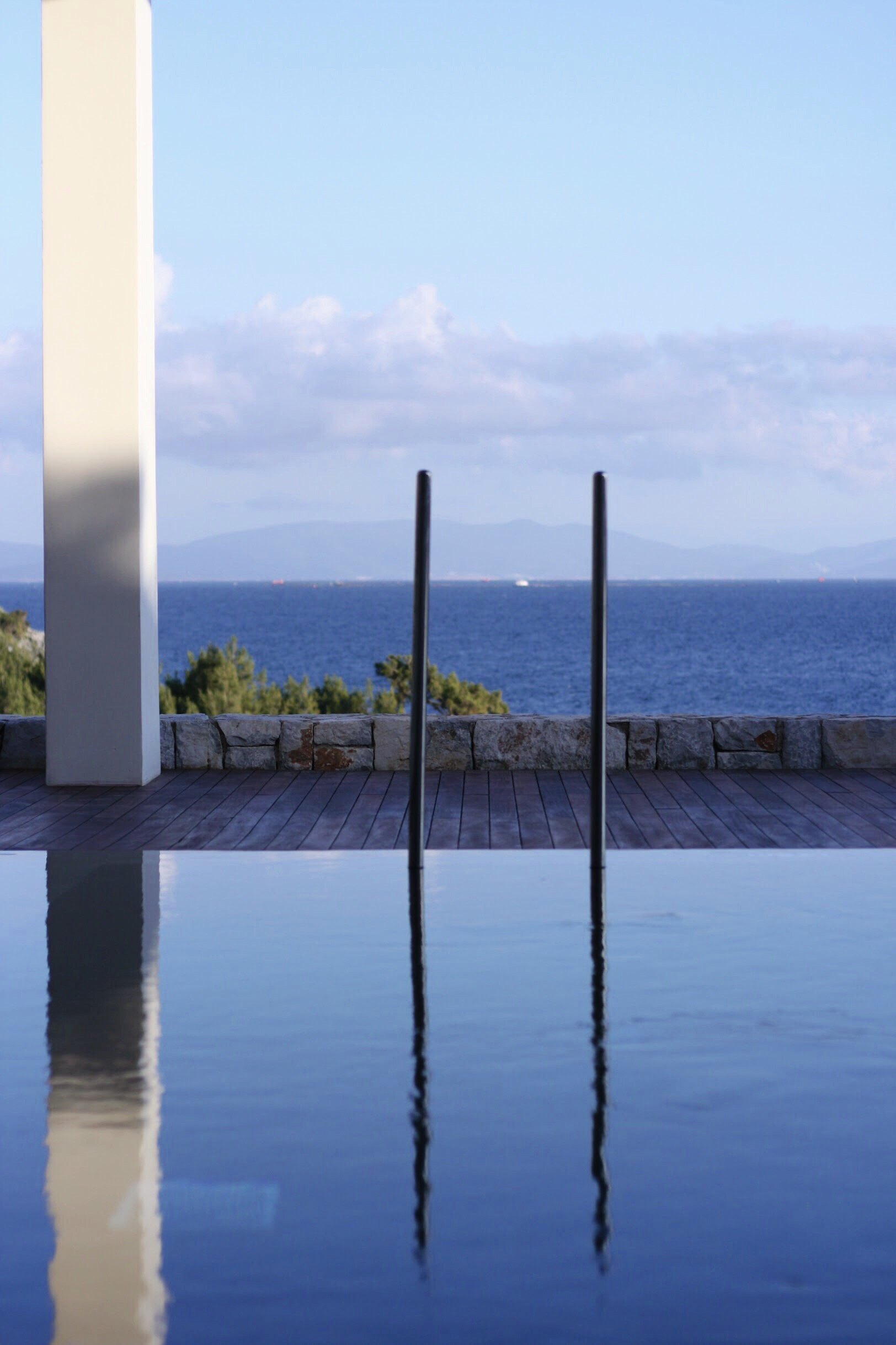 One of two heated saltwater infinity pools on the Six Senses Kaplankaya property. Private villas for sale and rent also feature their own infinity-edge pools.