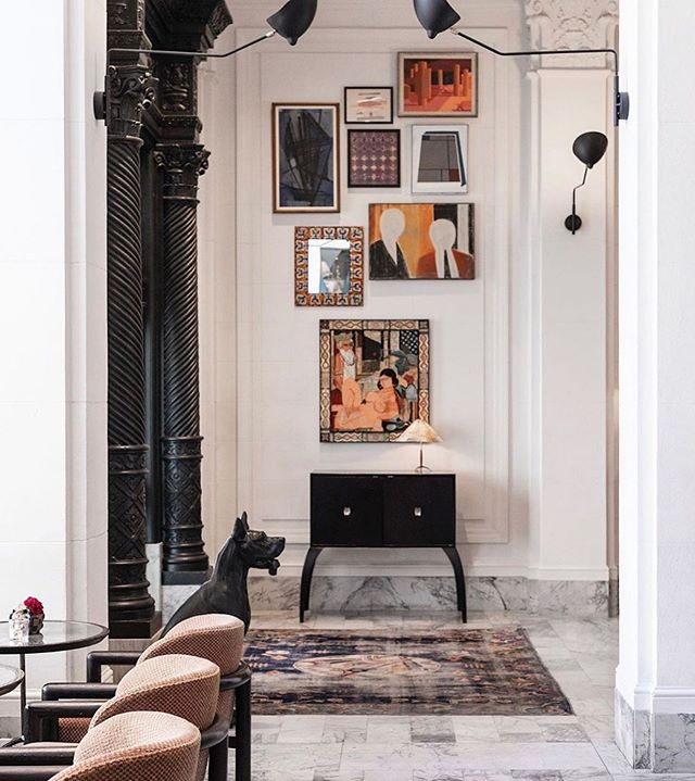 kelly wearstler created the interiors of our dreams for the san francisco proper ⚡️ photo brought to us by the jet setting @inbedwith.me