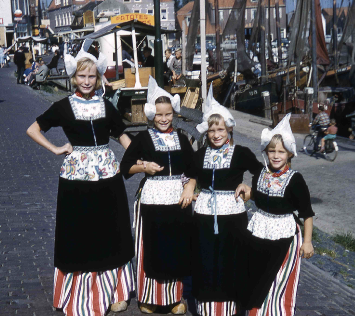 Here we are in Holland in local costume--Barbara, Donna, Kathy and Pam