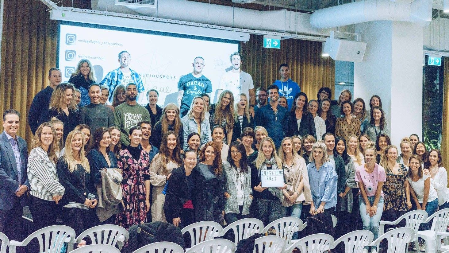 Pic by Cam Sims, from the recent Conscious Boss Clique : The Wellness Edition event at NZME.