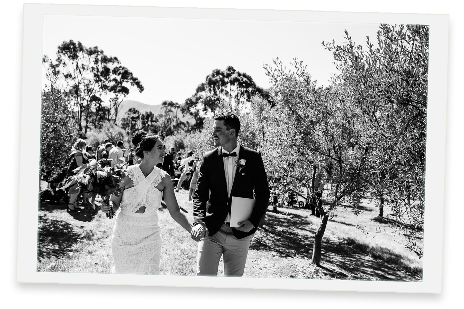 megan & sam - rochford hall, kellevie, Tas