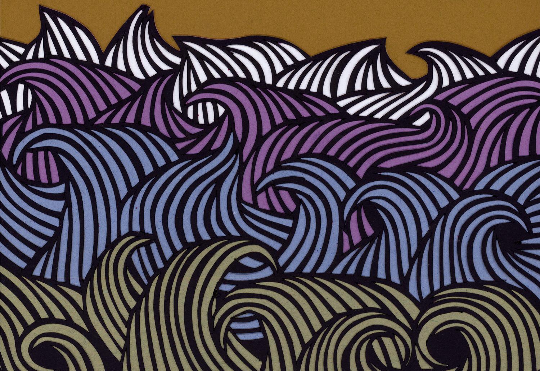 Sea Purple detail