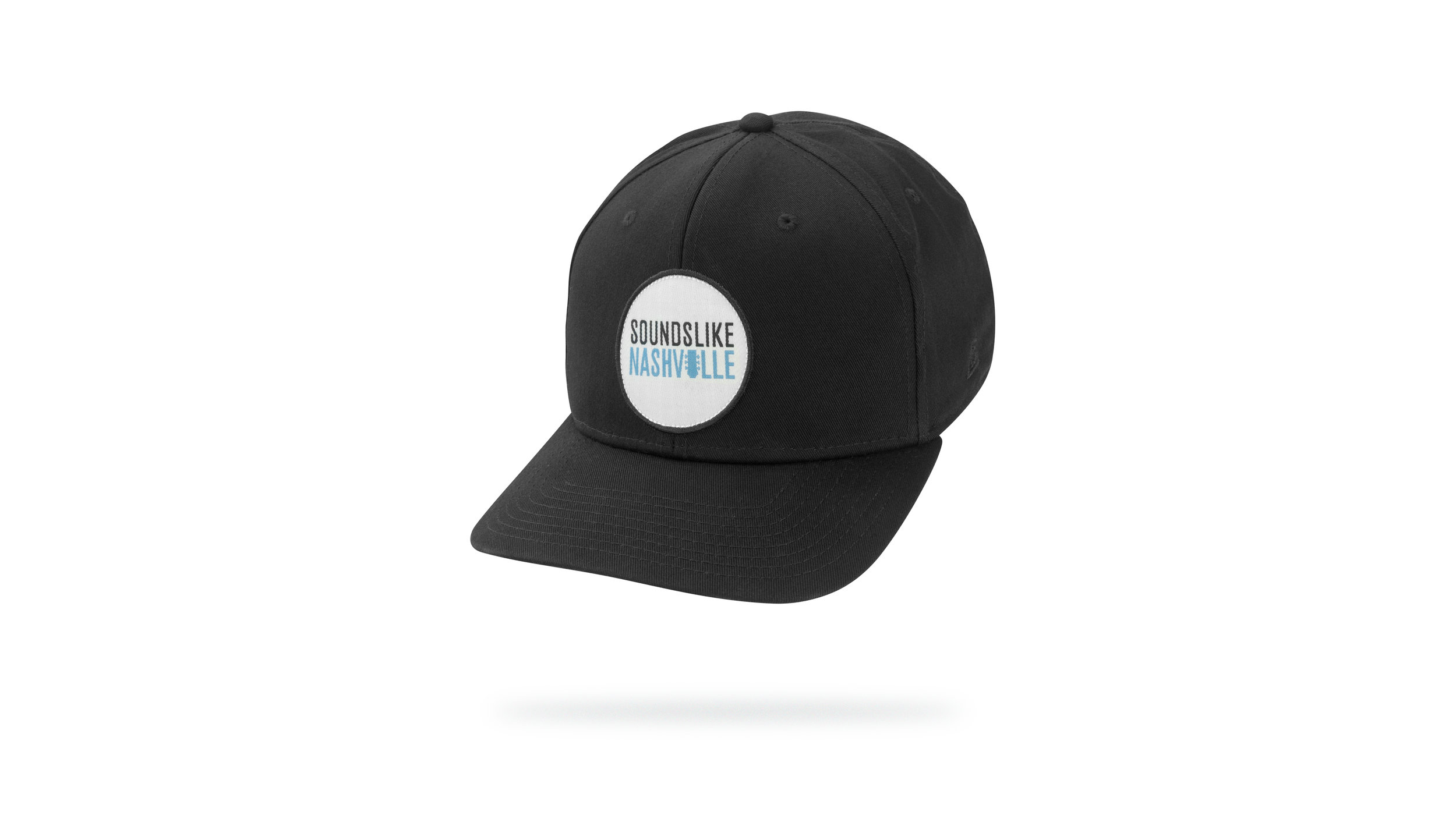 Featured Hat: STYLE II - Classic Twill Cap w/ Versa Visor & Woven Label Patch Applique