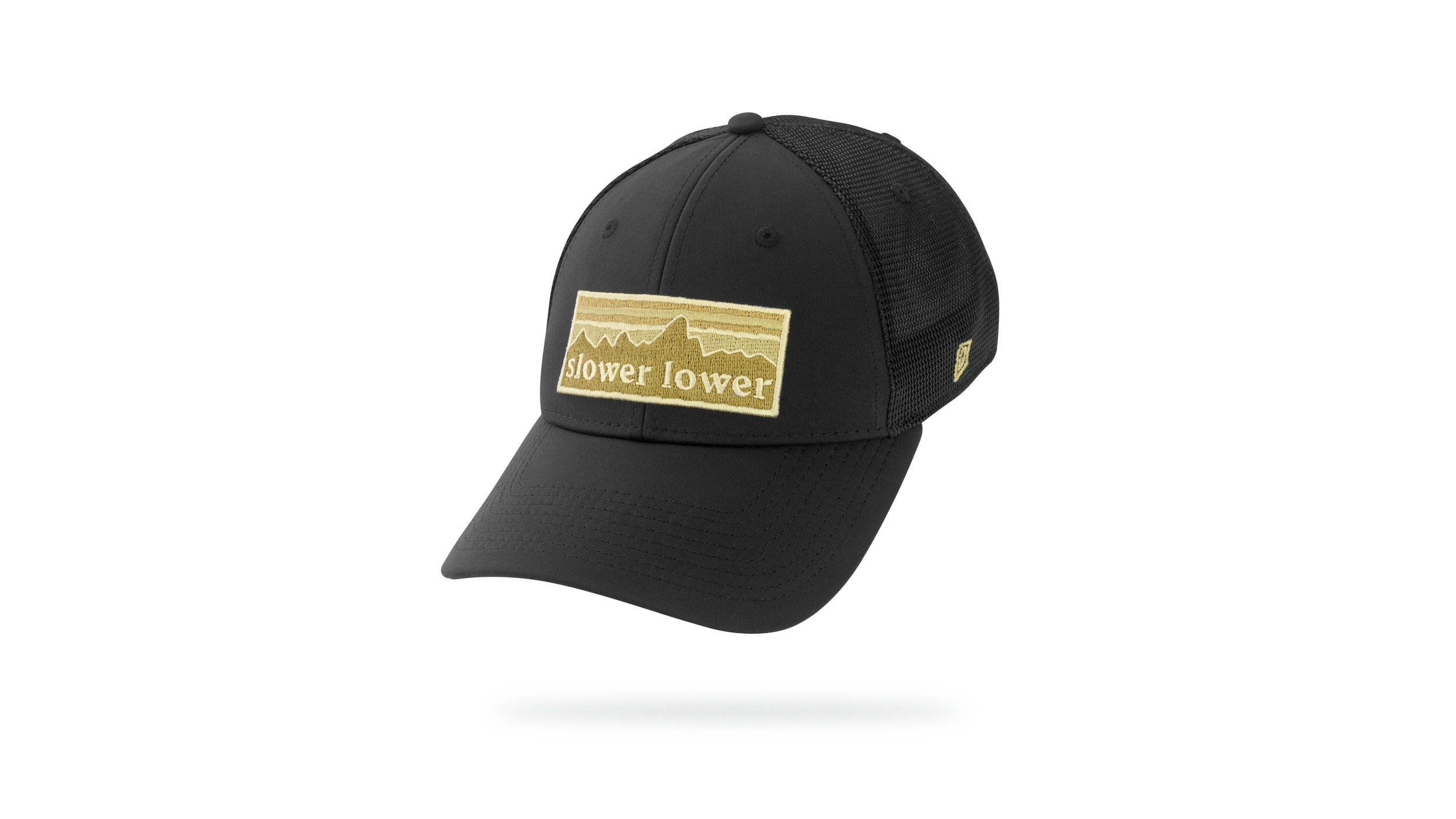 Featured Hat: STYLE III - Performance Trucker Cap w/ Curved Visor & Twill Patch Applique