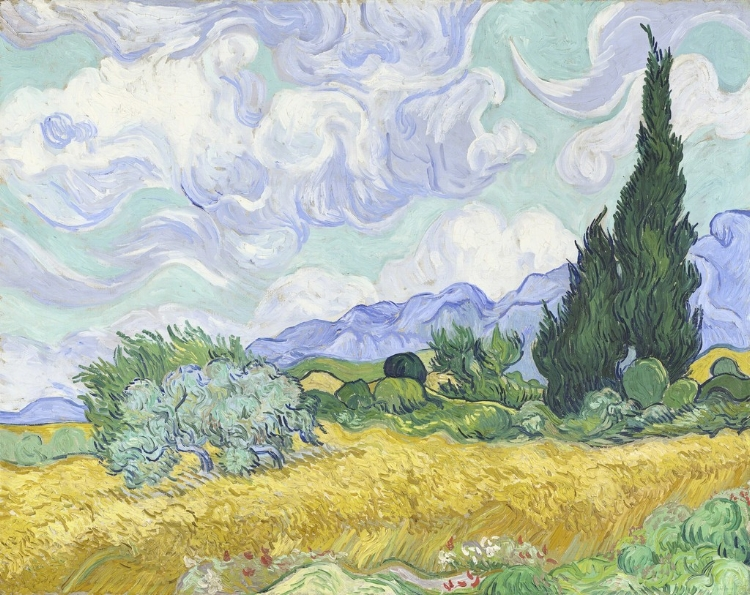 A STRICTLY LIMITED EDITION.THIS IS GUARANTEED TO BE A BRIEF OFFERING.INSPECTIONS BY APPOINTMENT ONLY WITHADELE of BOWRAL ESTATES0409 026 026ADELE@BOWRALESTATES.COM - WHEAT FIELD WITH CYPRESSES, 1889OIL ON CANVASVINCENT VAN GOGH