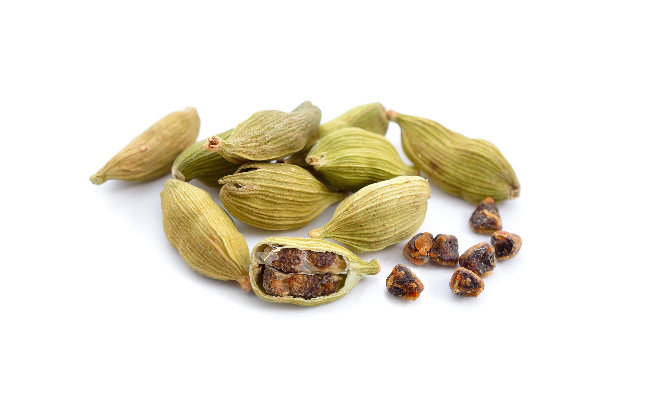 Cardamom Pods - Our coriander is bred specifically for its seeds. After steeping it overnight you can taste the woody notes of thyme and the floral citrus flavour of linalool.