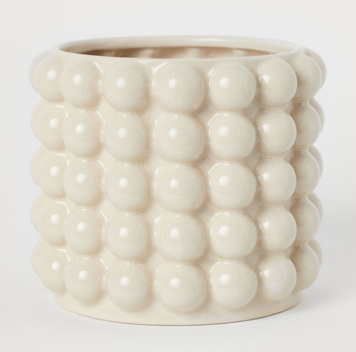 BUBBLED PLANT POT - £17.99 - H&M