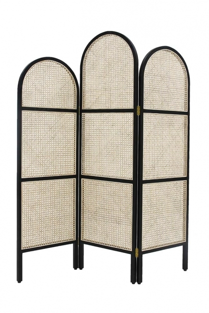 Sungkai Woven Cane Wooden Room Divider - £400.00 - Rockett St George