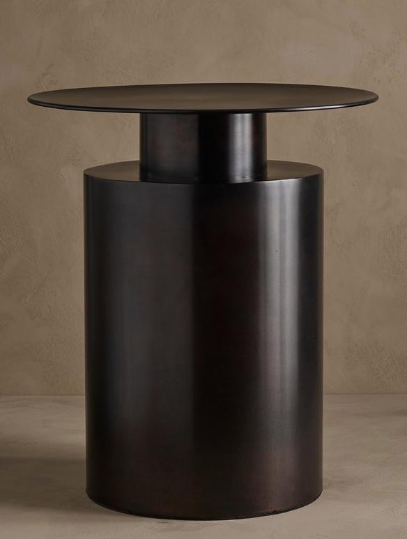 Pillar Coffee Table, Tall - Burned Black - £321.00 - 101CPH
