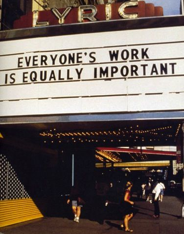 We too are conduits in the interplay between our own light and dark and both are equally important. - Image: Jenny Holzer