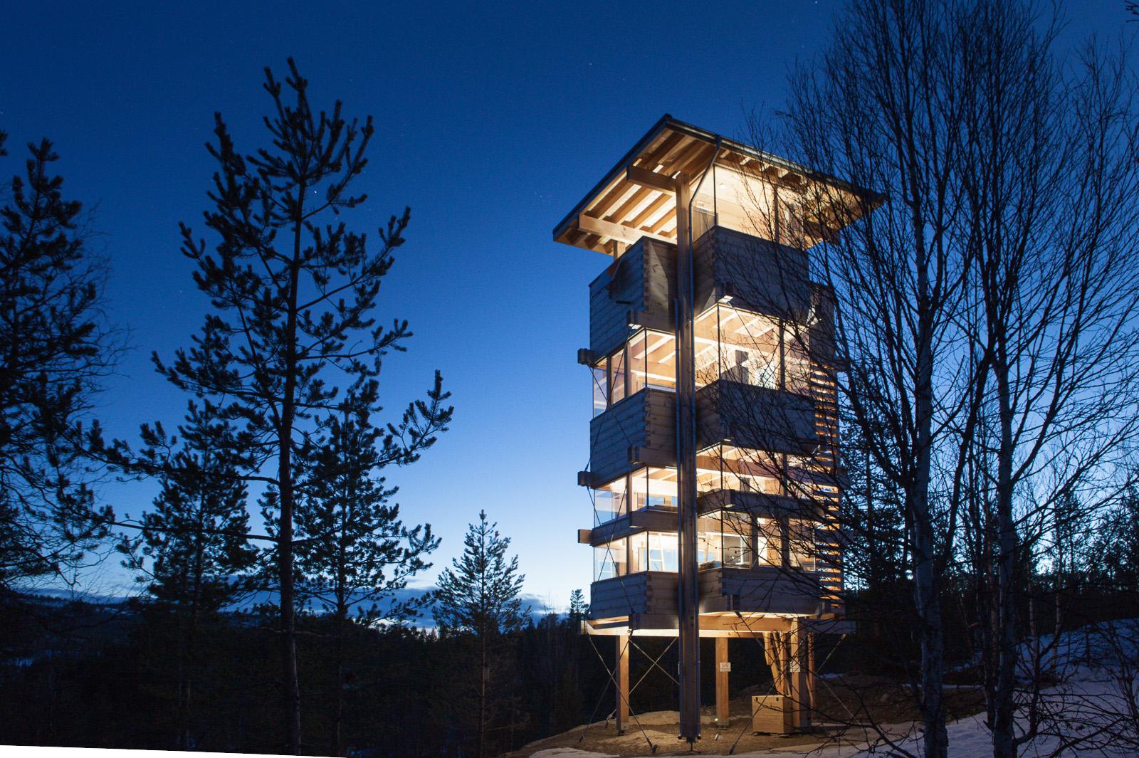 Foto: Sam Hughes- som er arkitekten bak Elgtårnet i Espedalen