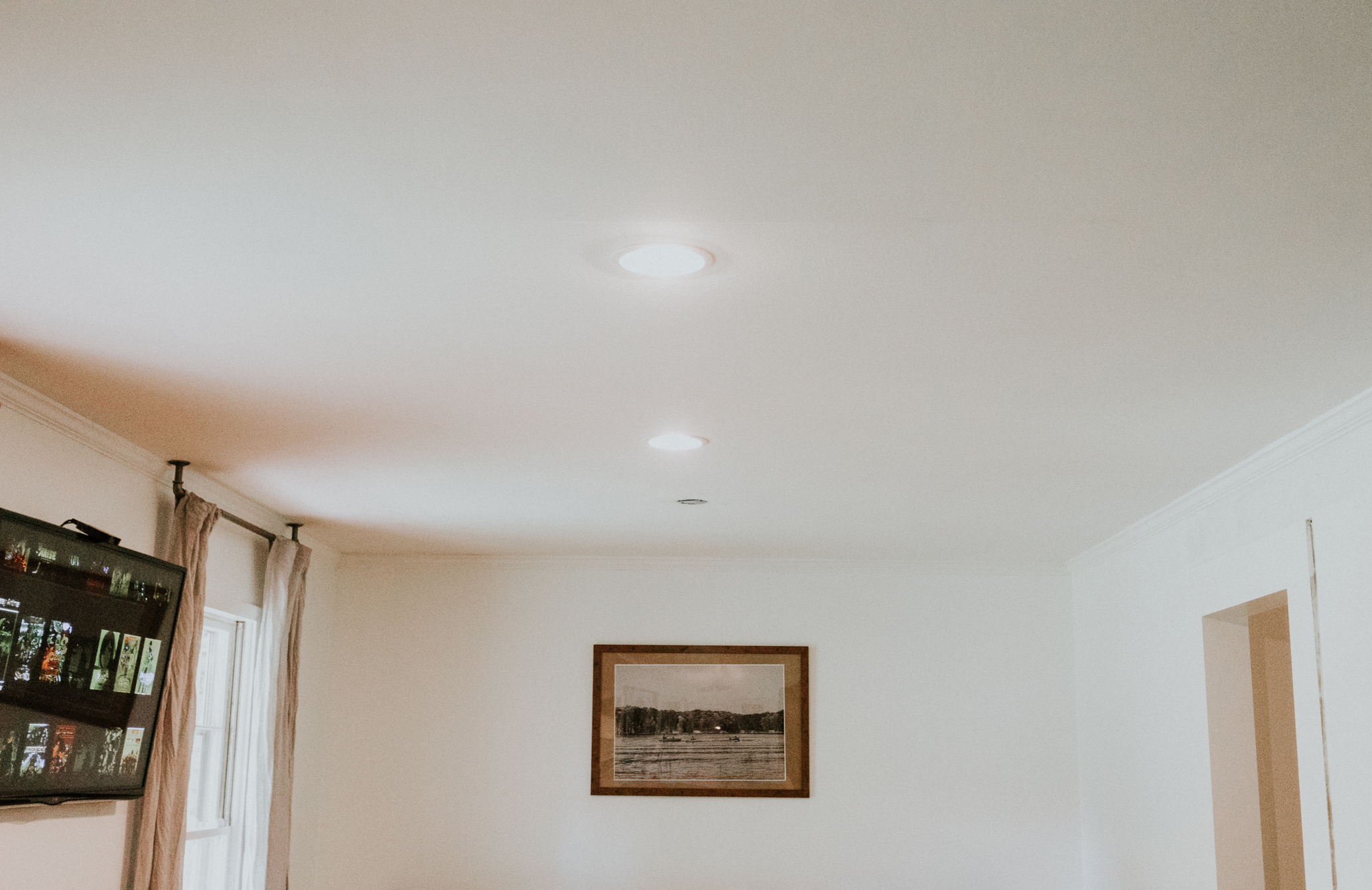INSTALLED RECESSED LIGHTING IN A FAMILY ROOM WITH THE HOME DEPOT.