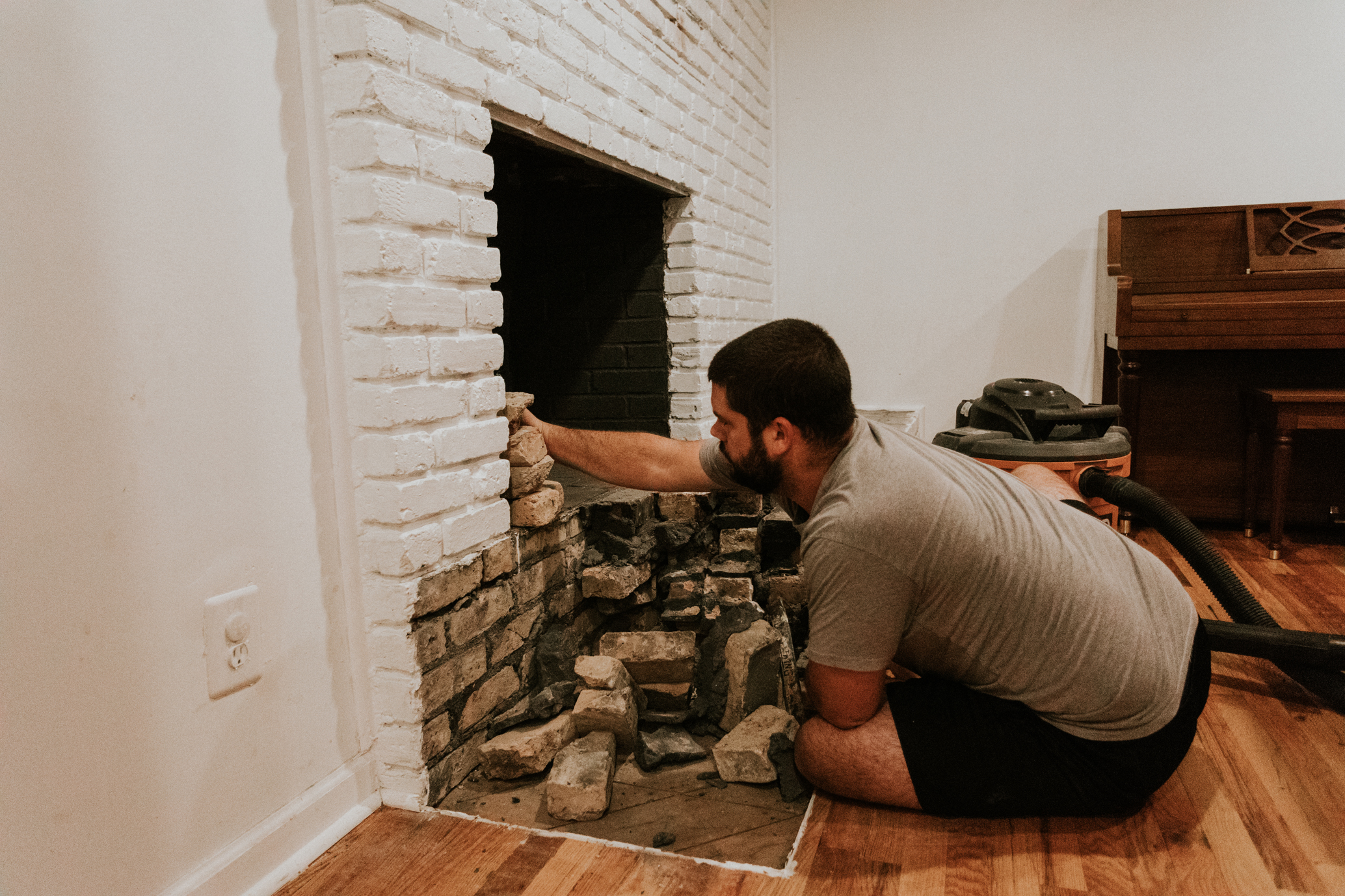 REMOVING A BRICK FIREPLACE