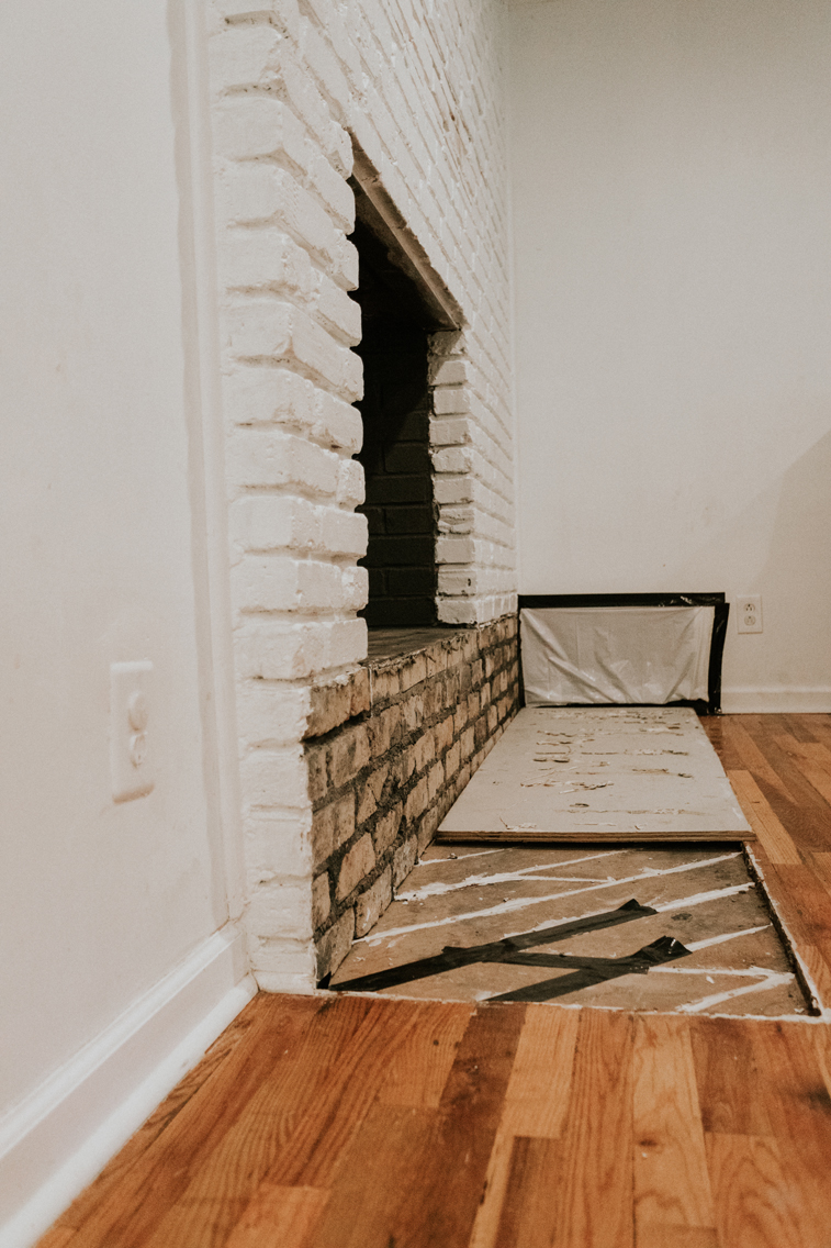 REMOVING A FIREPLACE HEARTH