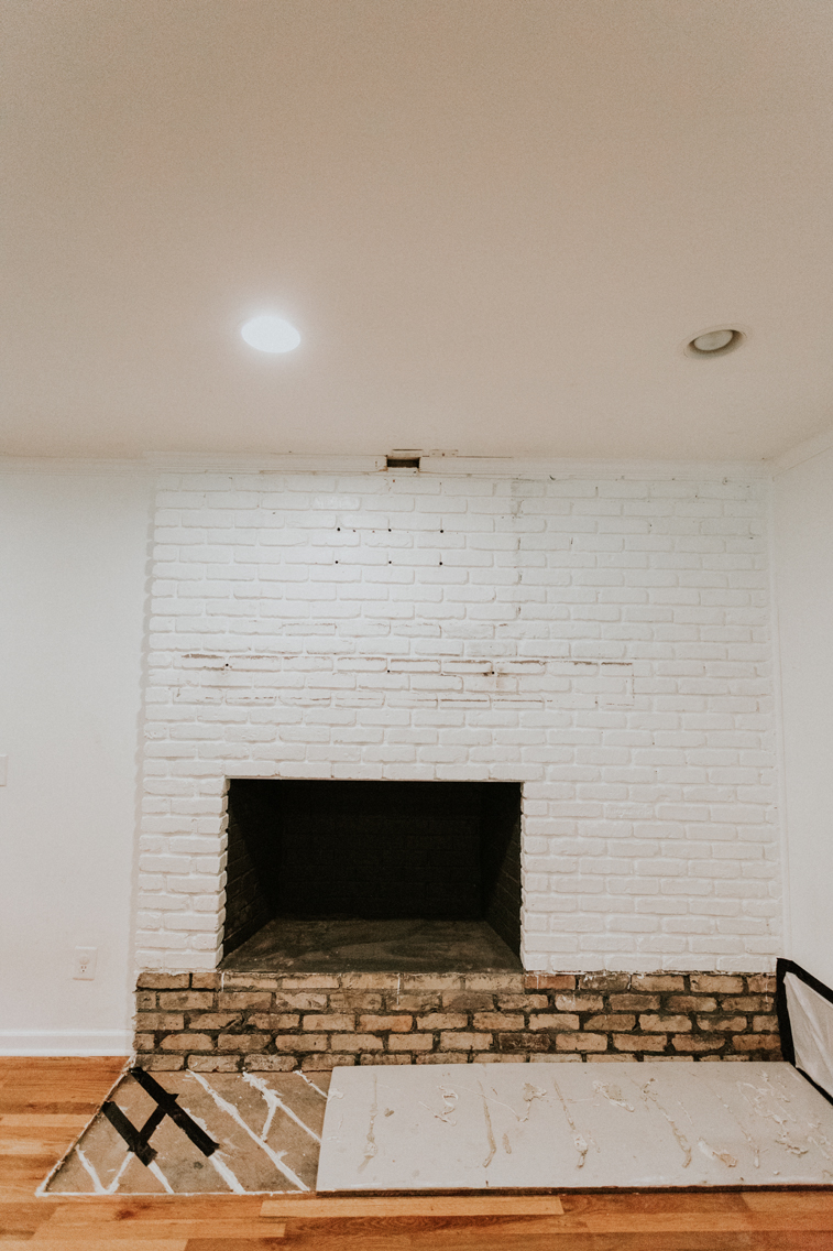 FIREPLACE WITHOUT A HEARTH