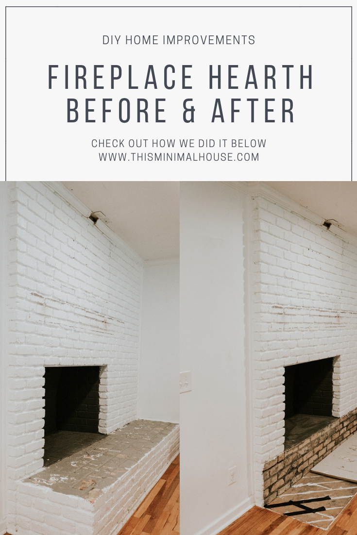 FIREPLACE HEARTH BEFORE AND AFTER