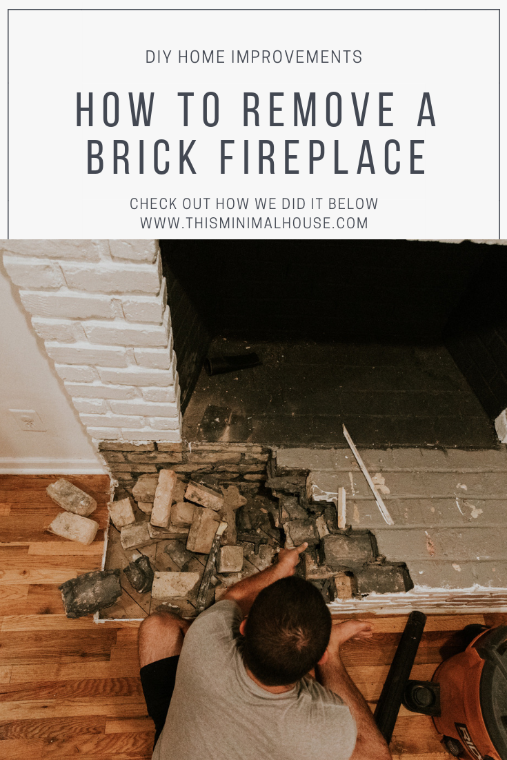 HOW TO REMOVE A BRICK FIREPLACE