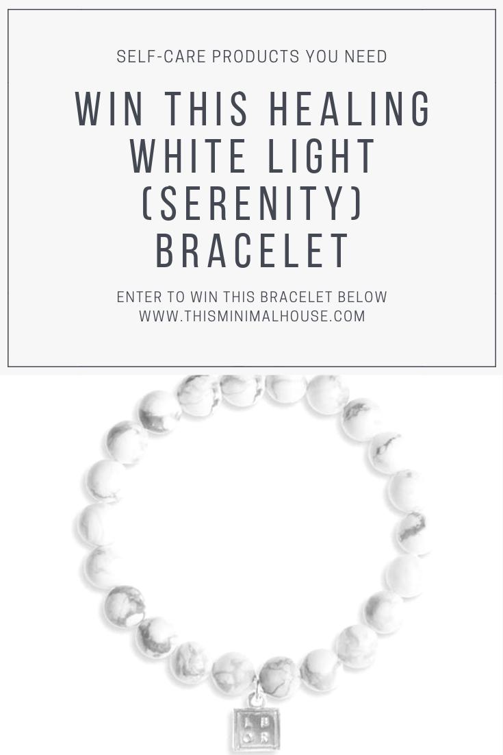 WIN THIS LITTLE BOX OF ROCKS WHITE LIGHT SERENITY BRACELET