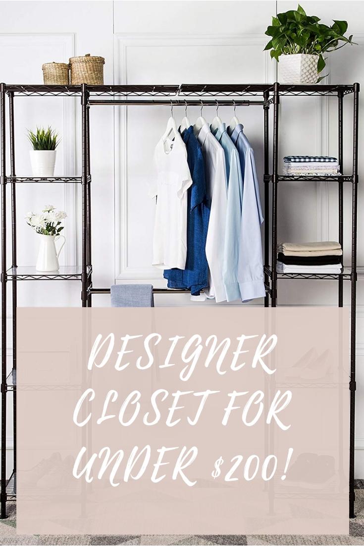 Designer closet for under $200!
