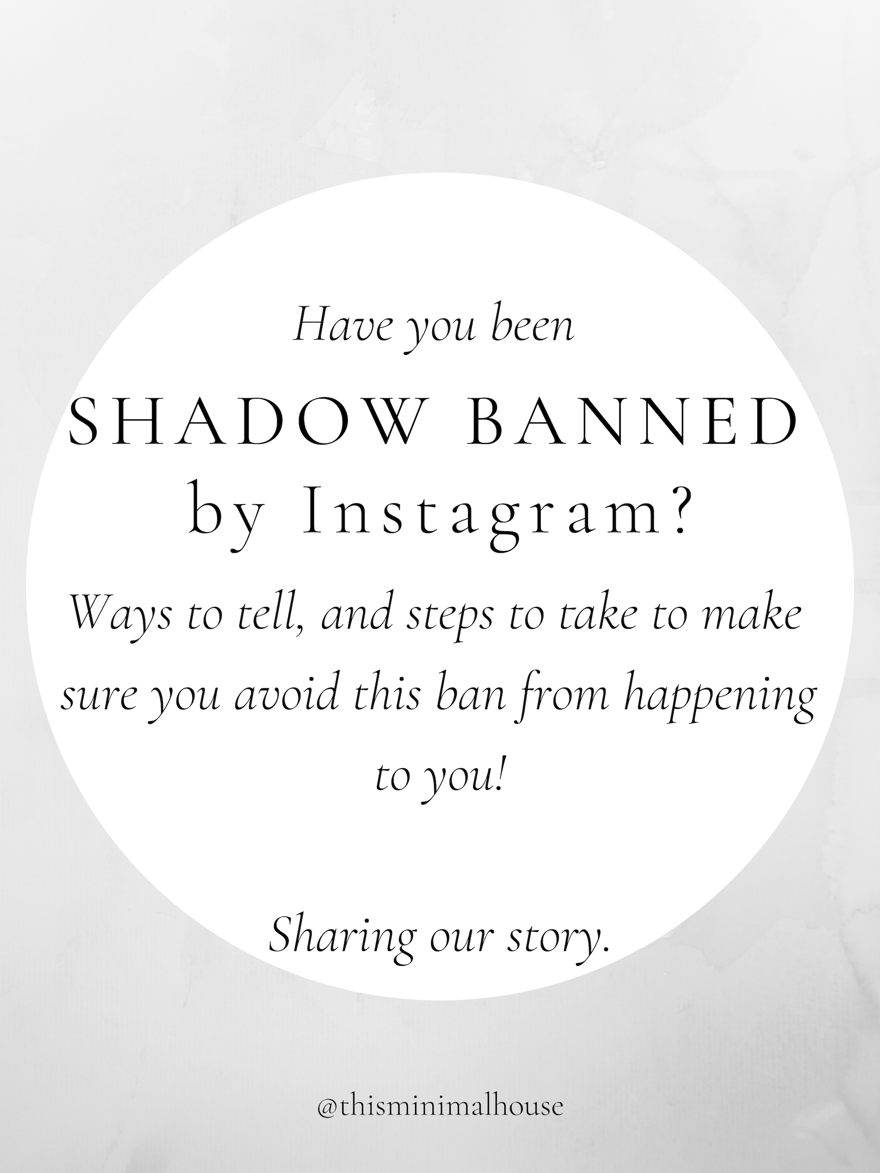 HOW TO AVOID GETTING SHADOW BANNED ON INSTAGRAM
