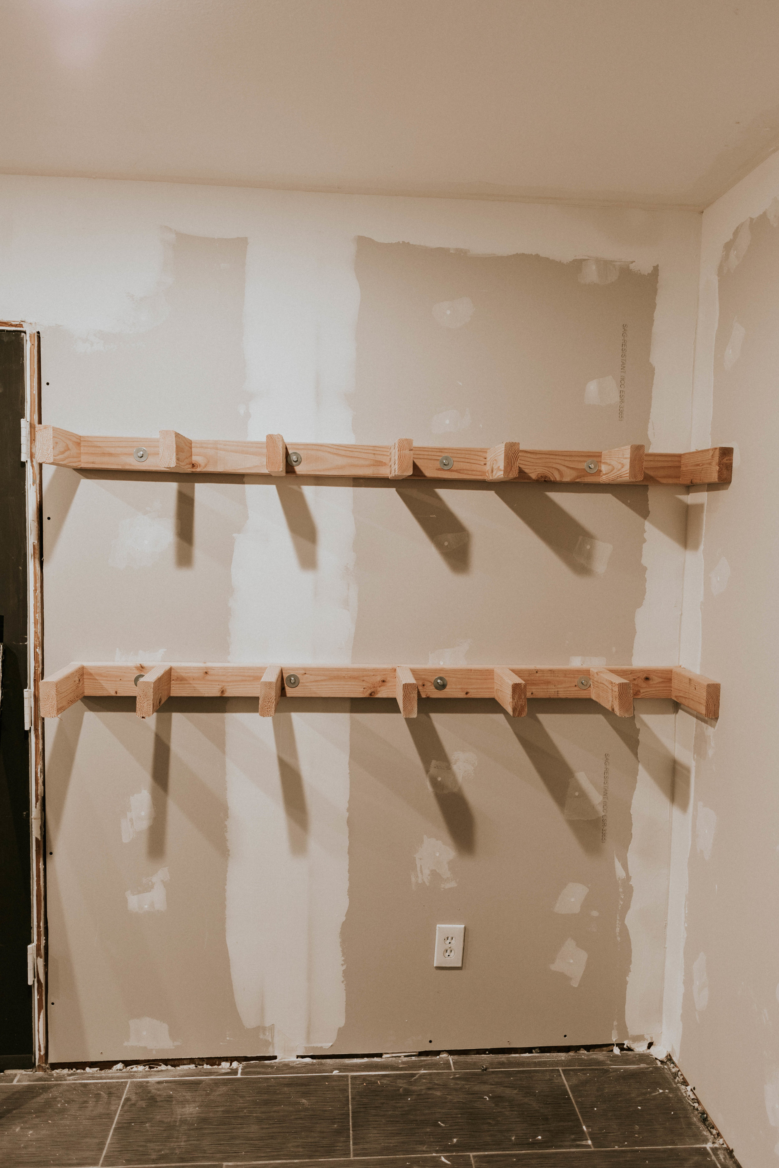 How to build open shelving for your kitchen!