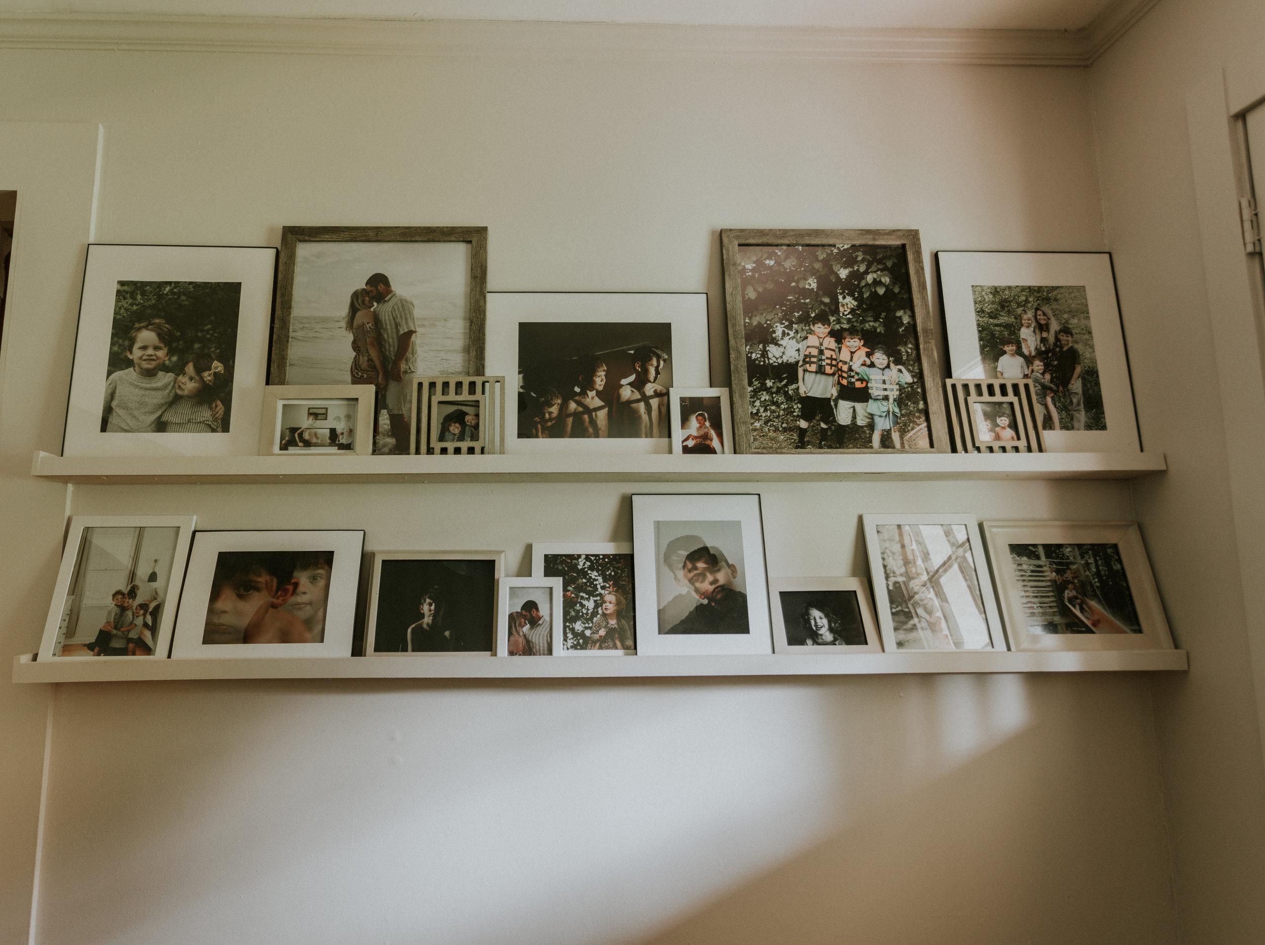 How to build a photo ledge on a budget