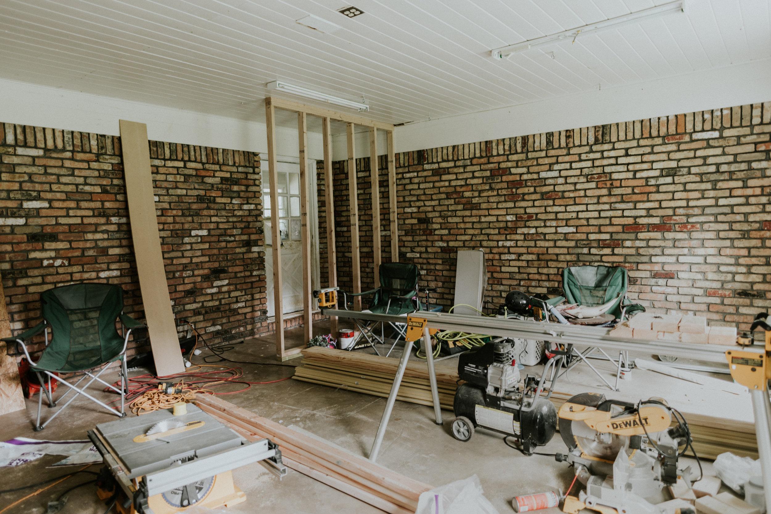 Enclosing a garage into livable space