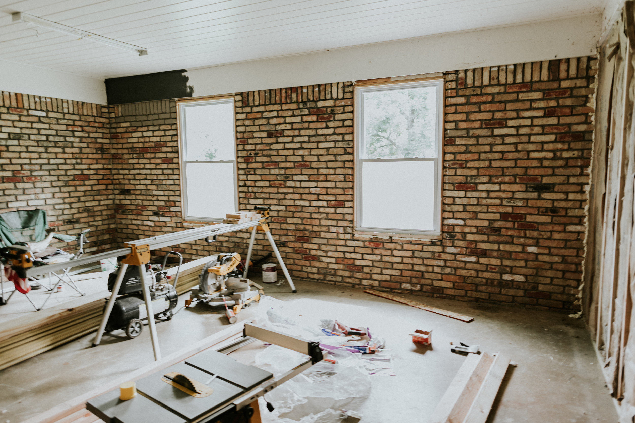Transforming a garage into a room