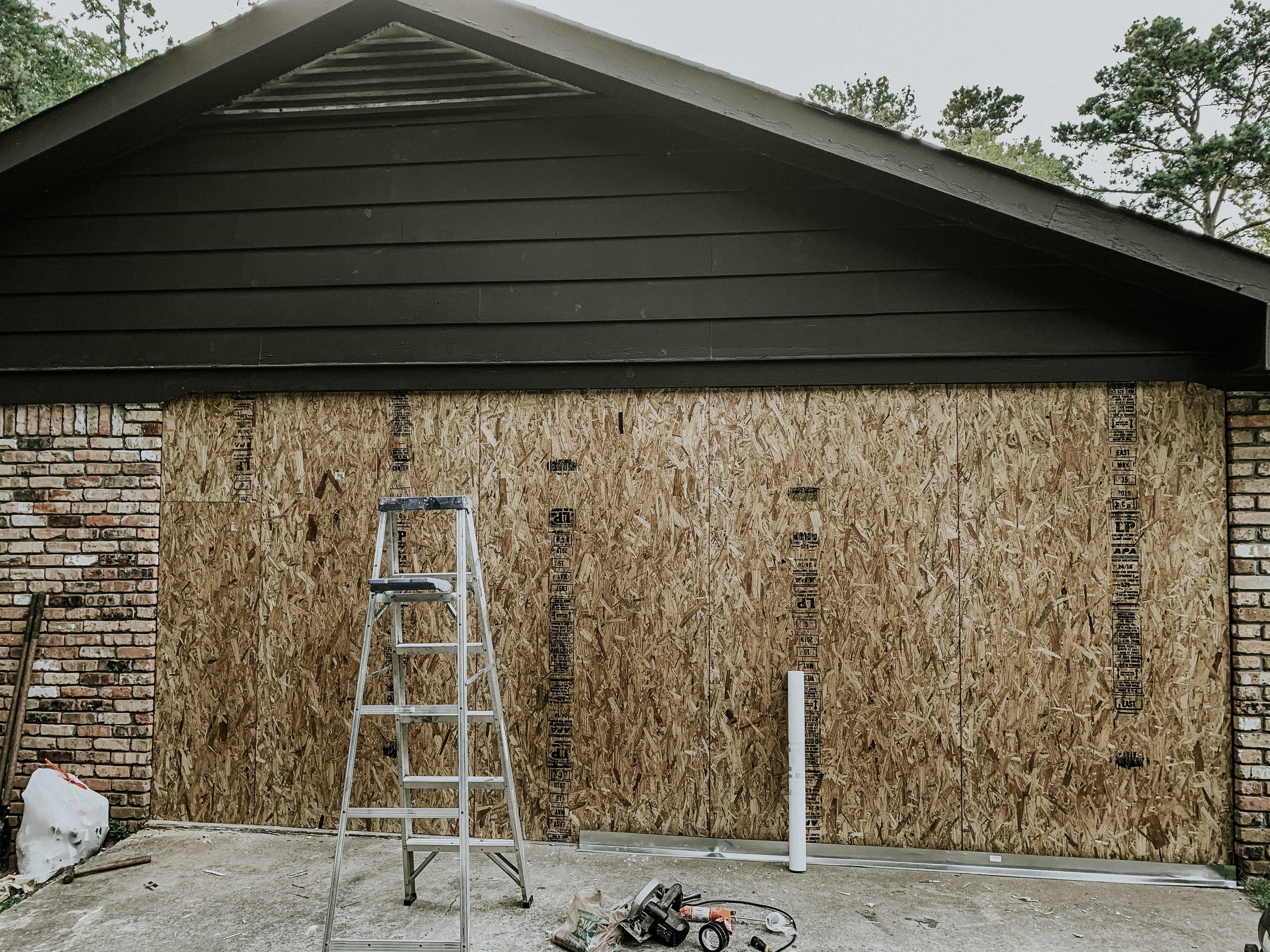 Exterior plywood for framed wall