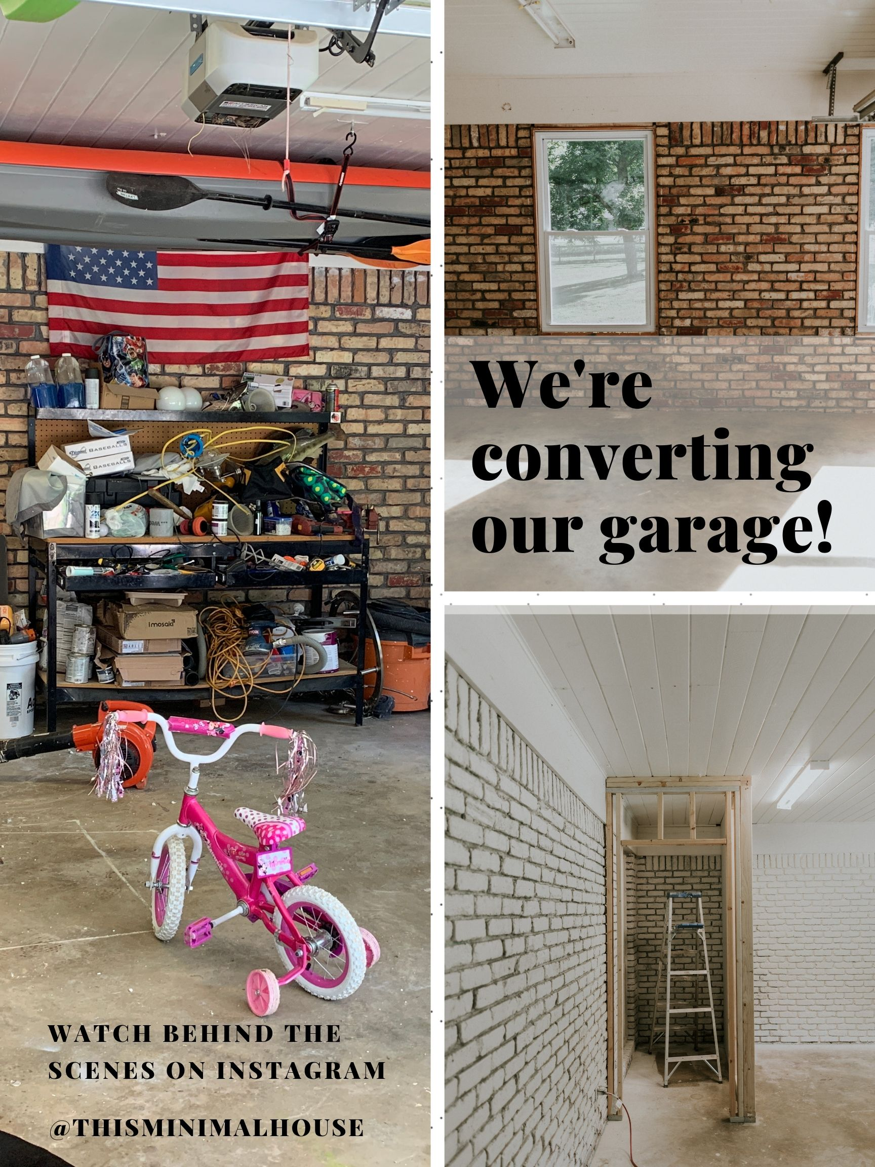 We're converting our garage!